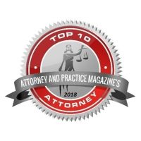 Badge for Top 10 Attorney (2018) in Attorney and Practice Magazines